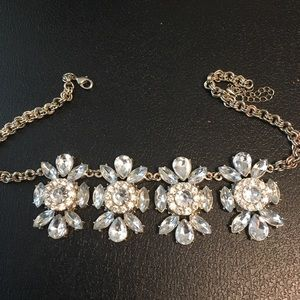 Jewelry - Vintage Chunky Rhinestone Necklace 16 Inches + 3